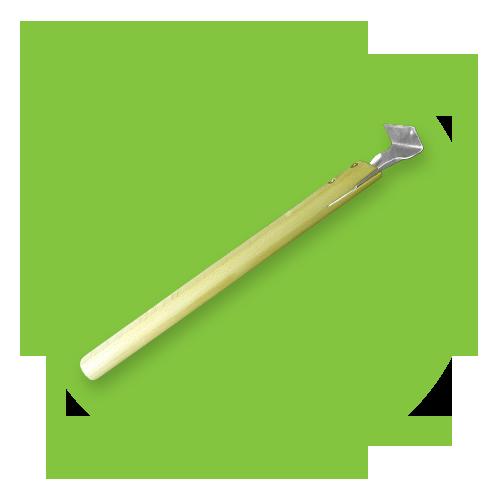 Шпатель усиленный широкий - длинная ручка угол 90