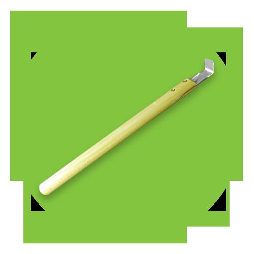 Шпатель усиленный узкий средняя ручка угол 90